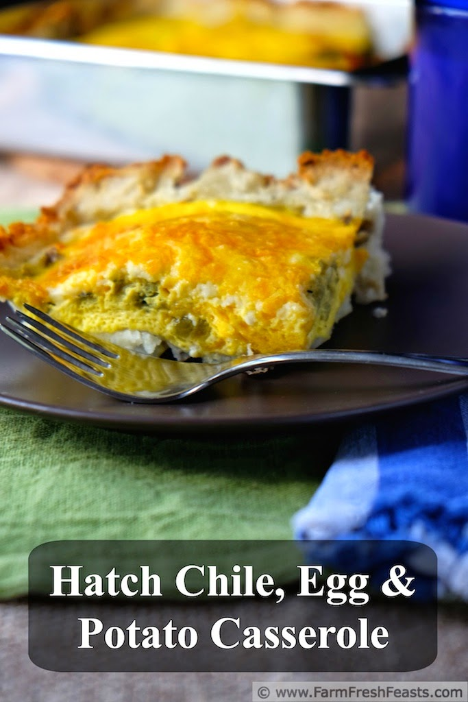 Hatch Chile, Egg & Potato Casserole | Farm Fresh Feasts