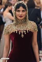 Priyanka Chopra in Maroon Velvet Gown at 2018 MET Costume Insute Gala ~  Exclusive 02.jpg
