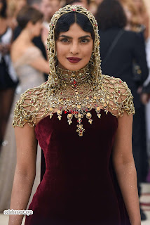 Priyanka Chopra in Maroon Velvet Gown at 2018 MET Costume Insute Gala ~ Exclusive 02