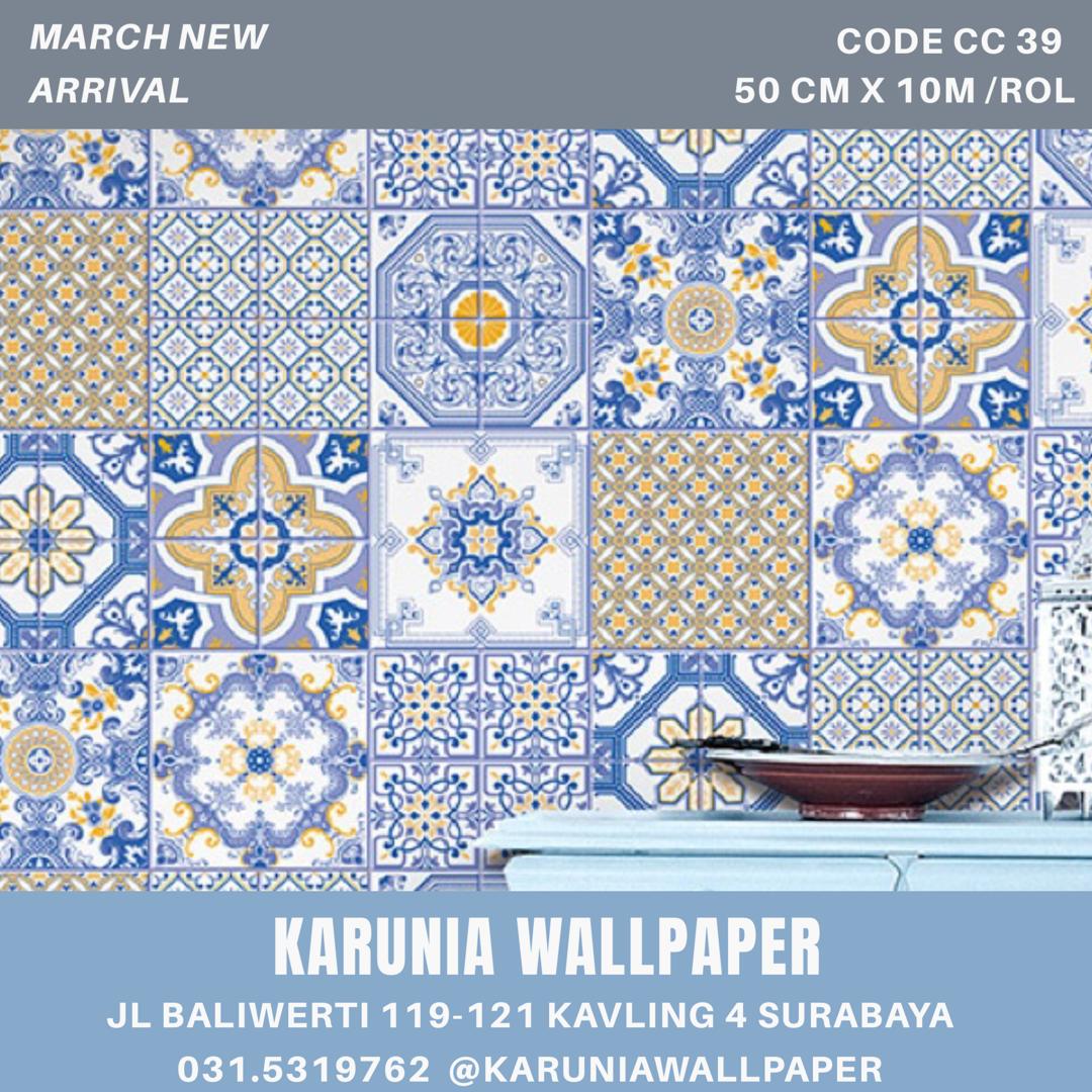 jual dinding wallpaper ala interior peranakan