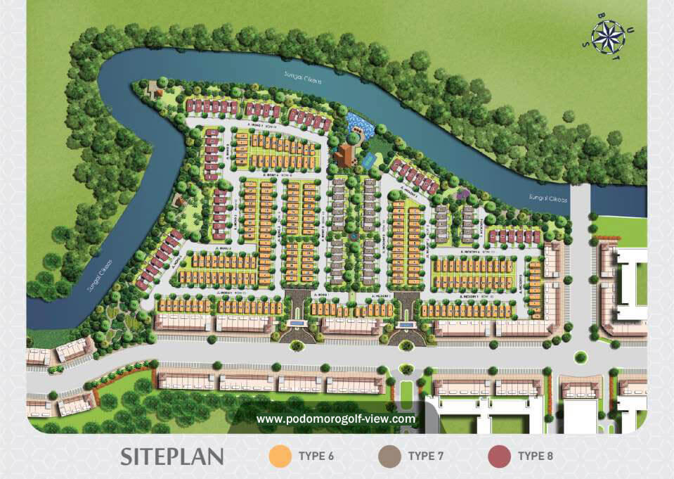 Site Plan Rumah Podomoro River View
