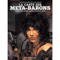Portada de la novela gráfica La casta de los metabarones, en la que se puede observar a Vicenta Gabriela con el pelo negro.