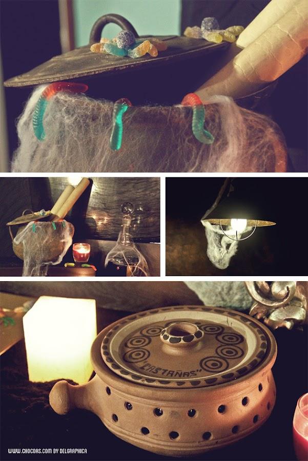 Decoración castaween (halloween + castañada)