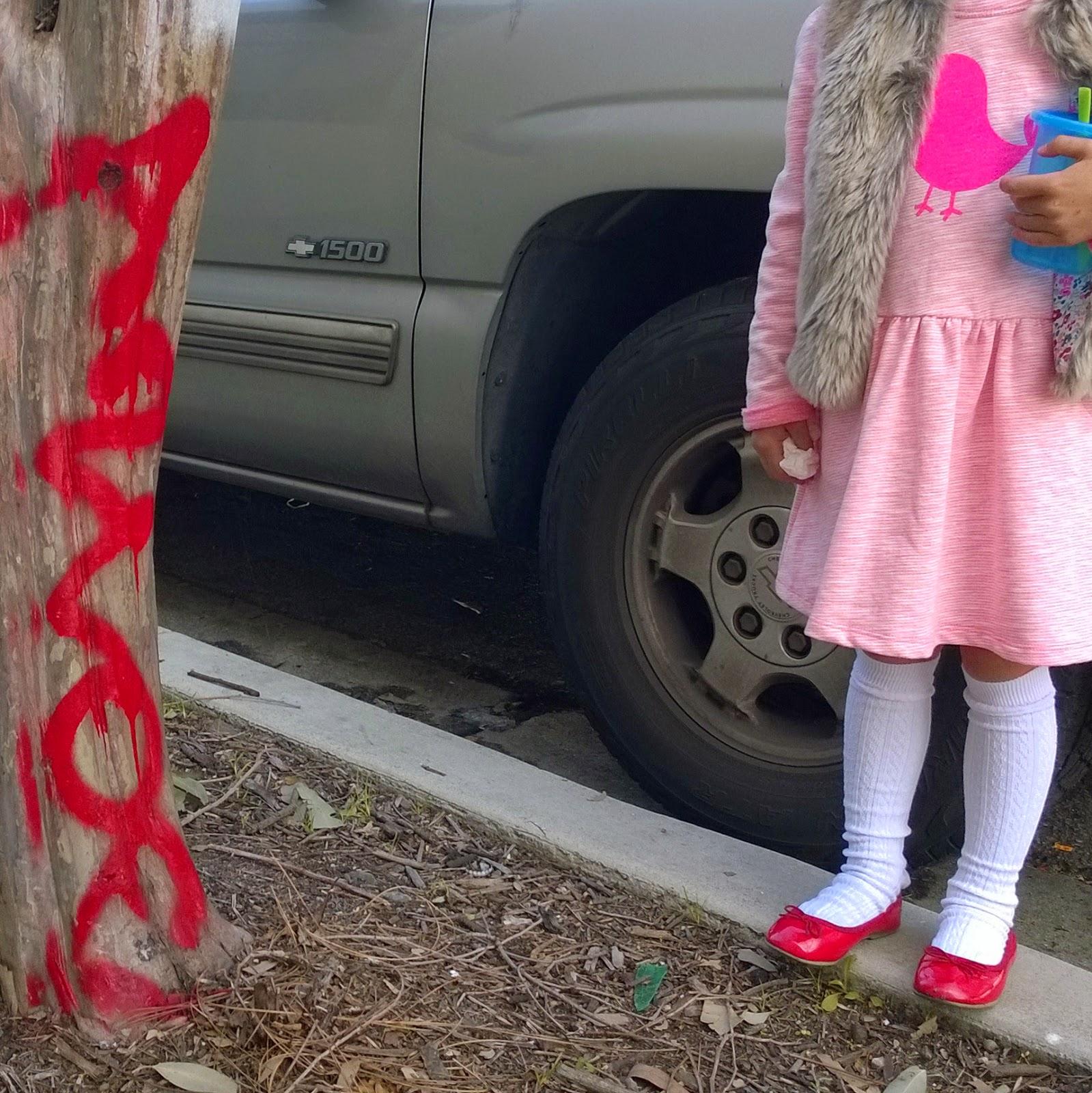 kids red ballet flats