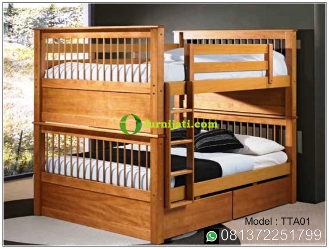 Harga tempat tidur anak kayu jati