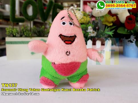 Souvenir Ulang Tahun Gantungan Kunci Boneka Patrick