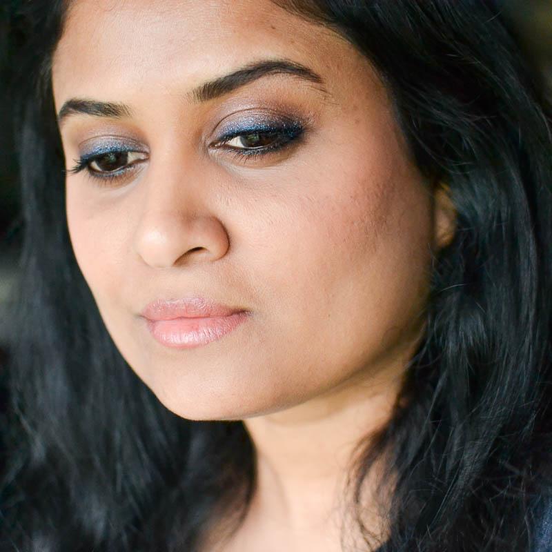 Smudged Shimmer Blue Brown Eyeliner Makeup Tutorial