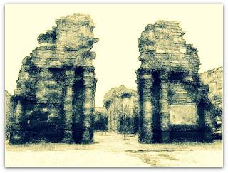 Redução de San Ignácio Mini - ruínas da igreja.