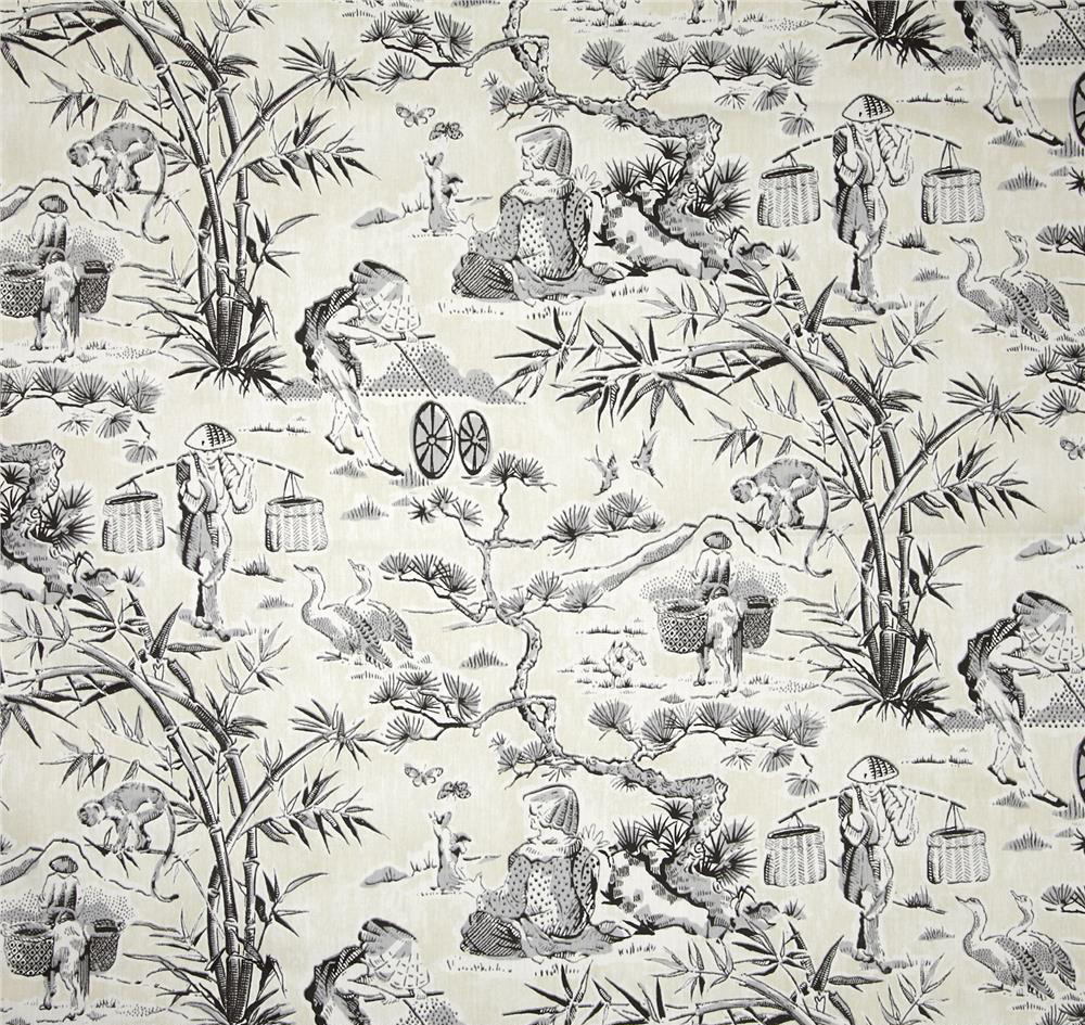aesthetic oiseau chinoiserie toile fabric score. Black Bedroom Furniture Sets. Home Design Ideas