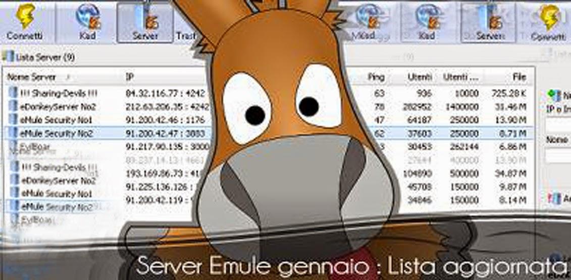 lista aggiornata server emule