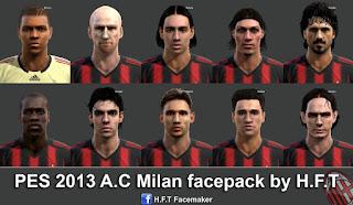 Classic Faces A.C Milan Pes 2013