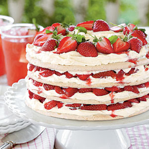 Basil Buttercream And Strawberry Cake