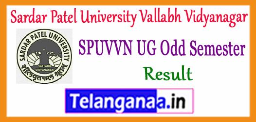SPUVVN Sardar Patel University Vallabh Vidyanagar UG 1st 3rd 5th 7th Semester Result 2018