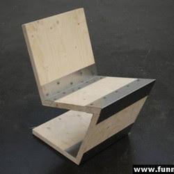 Diseño de sillón único madera armable