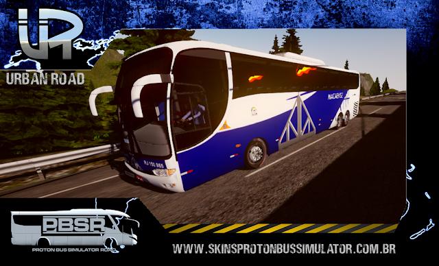Skin Proton Bus Simulator Road - G6 1200 Scania K124 Auto Viação Macaense