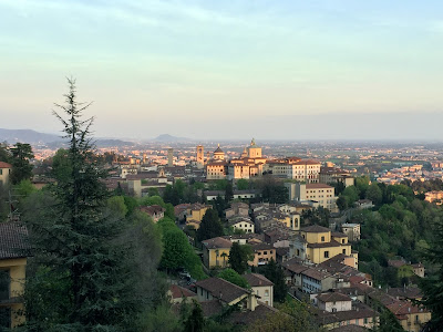 View of Bergamo Citta' Alta from San Vigilio