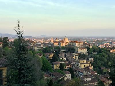 View of Bergamo Citta' Alta from San Vigilio