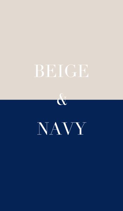 beige & navy .