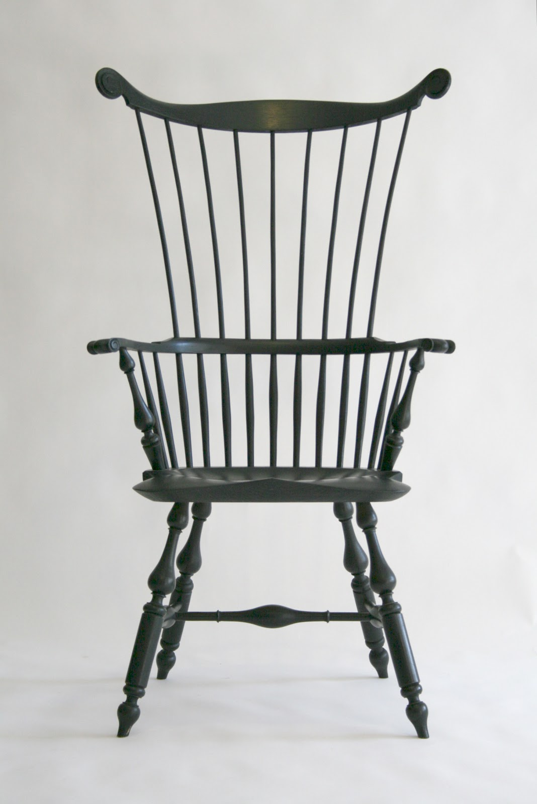 Caleb James Chairmaker Planemaker: Comb Back Windsor Arm Chair