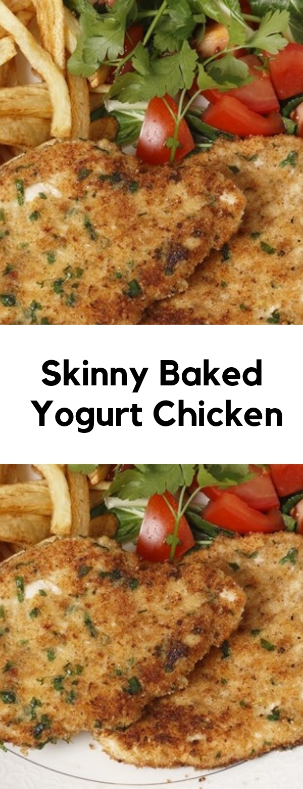 Skinny Baked Yogurt Chicken #chicken #lowcarb #weightwatchers