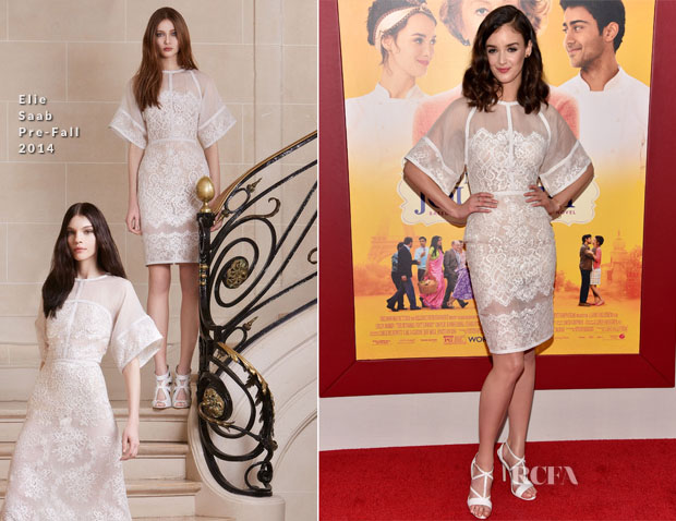 Charlotte Le Bon in Elie Saab – 'The Hundred-Foot Journey' New York Premiere