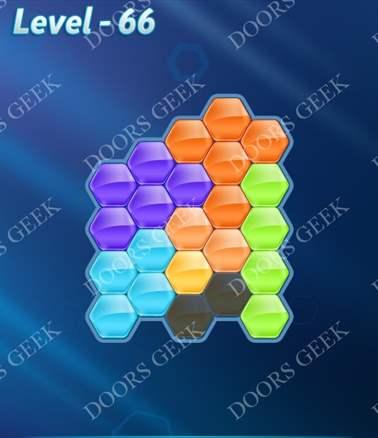 Block! Hexa Puzzle [Intermediate] Level 66 Solution, Cheats, Walkthrough for android, iphone, ipad, ipod