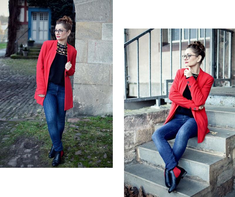 Streetstyle Blazer Rot, Modeblog, Fashionblog, Ü30. Ü40