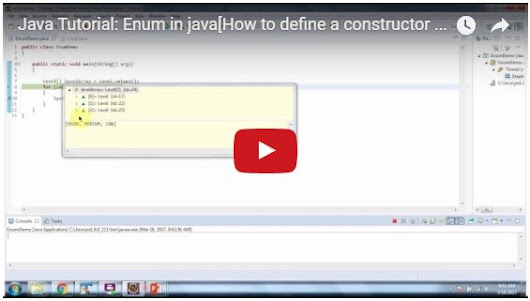 Java Tutorial: Enum in java[How to define a constructor and method in enum - Level]