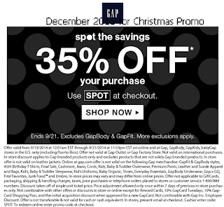 Gap coupons december