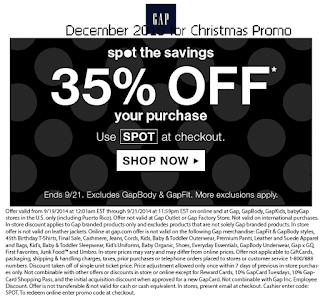 Gap coupons december