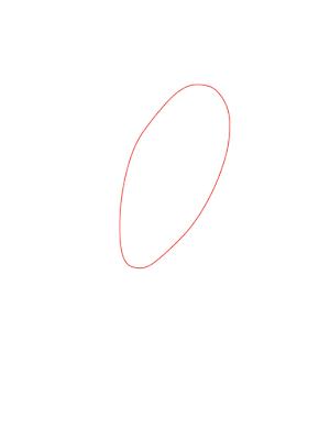 menggambar olaf langkah 1