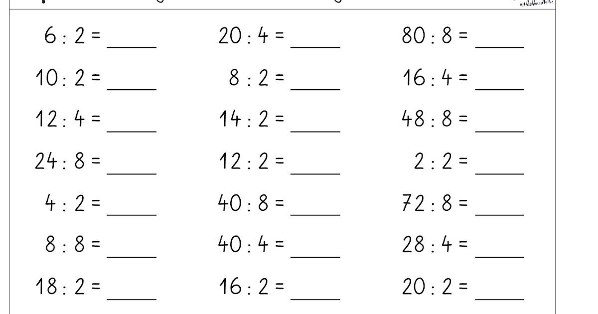 lernst252bchen kopfrechenbl228tter zum einmaleins dividieren