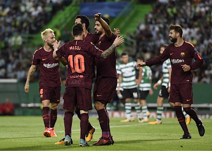 فوز صغير لبرشلونة على سبورتينغ البرتغالي