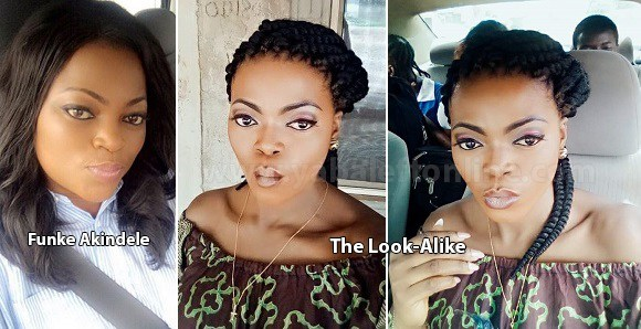 Image result for Photos of Funke Akindele's look alike, break the internet