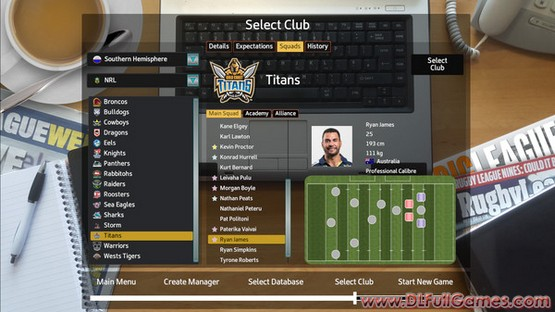Rugby League Team Manager 2018 Free Download Pc Game