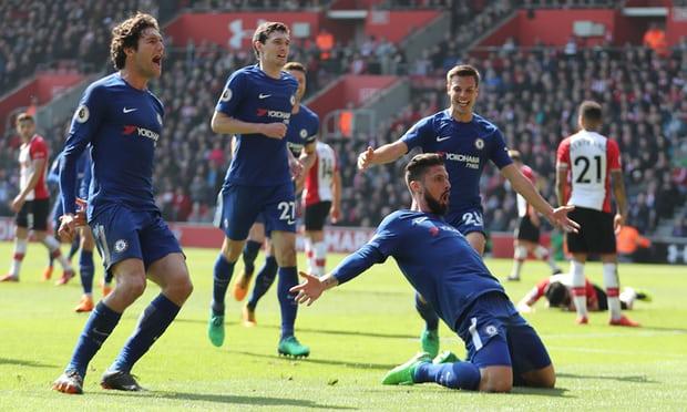 Olivier Giroud seals Chelsea's comeback win to stun struggling Southampton