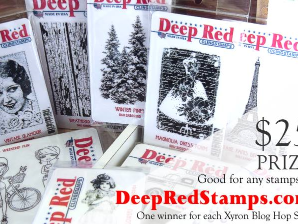 Winner of the Deep Red Stamps Giveaway!