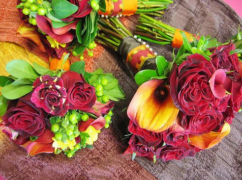 как украсить интерьер осенними цветами,