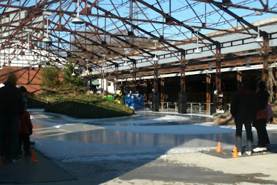 Evergreen Brick Works ice rink at Koerner Gardens by garden muses: a Toronto gardening blog