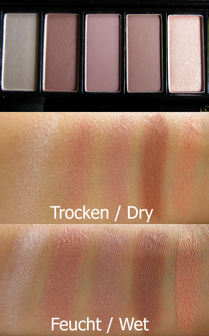 Review: L´Oréal Paris Color Riche La Palette Nude Rosé - Swatches Part 1