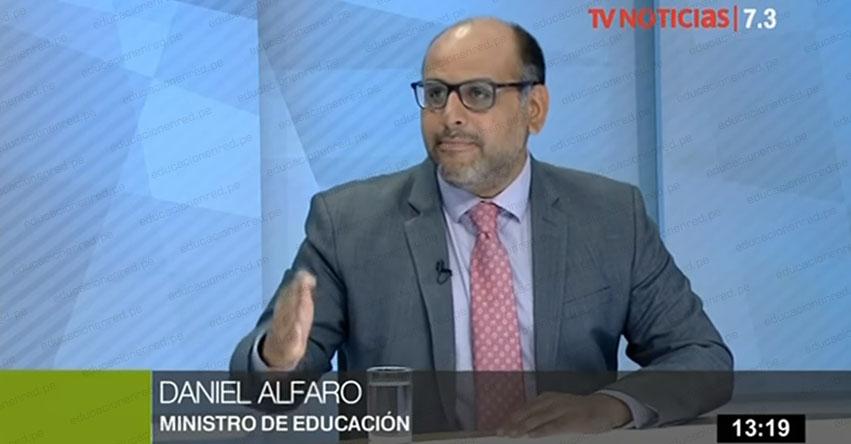 MINEDU: Incremento salarial para maestros se dará en dos tramos en 2019, informó el Ministro de Educación, Daniel Alfaro [VIDEO] www.minedu.gob.pe