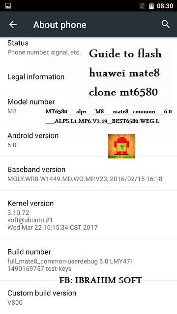 Flash Huawei Mate8 M8 Clone MT6580__alps__M8__mate8_common__6.0__ALPS.L1.MP6.V2.19_BEST6580.WEG.L