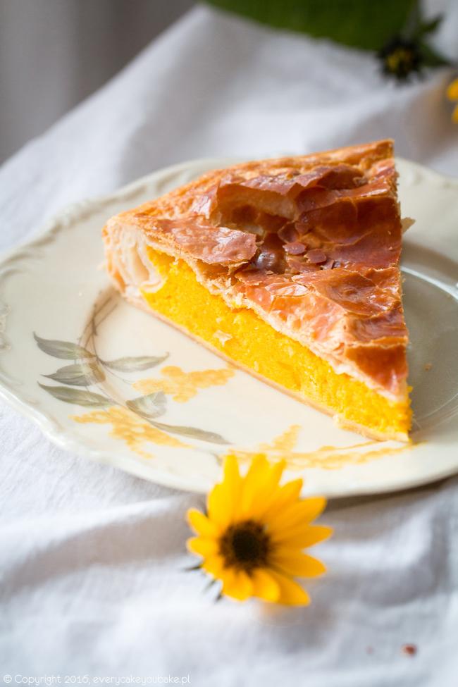 włoska tarta dyniowa na cieście francuskim torta di zucca