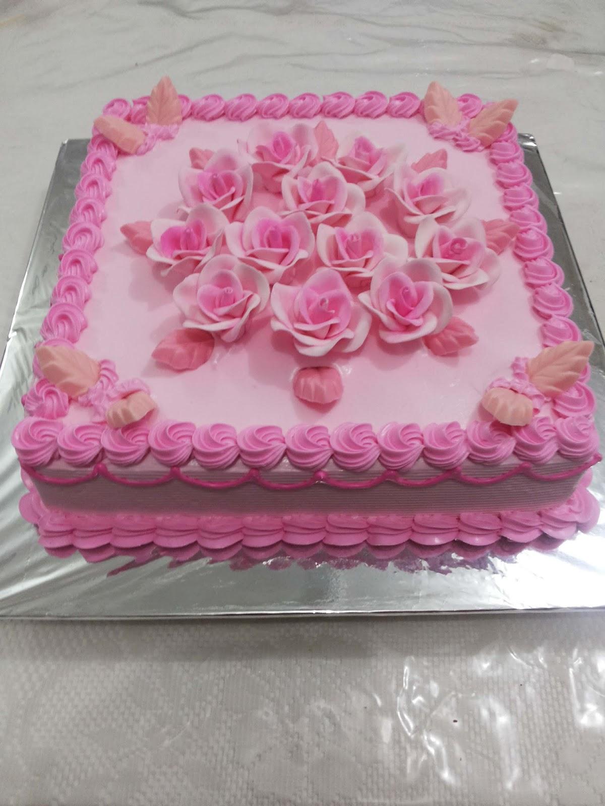 Gambar Bunga Mawar Dan Kue Ulang Tahun Pickini