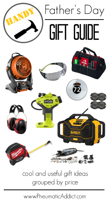 Cool and useful Handy Fathers Day gift ideas grouped by price