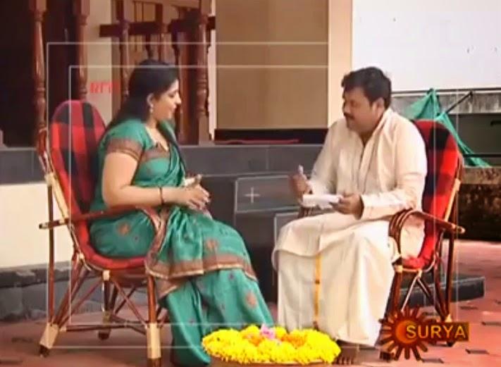 Saritha Nair In Surya TV Gulumal Programme