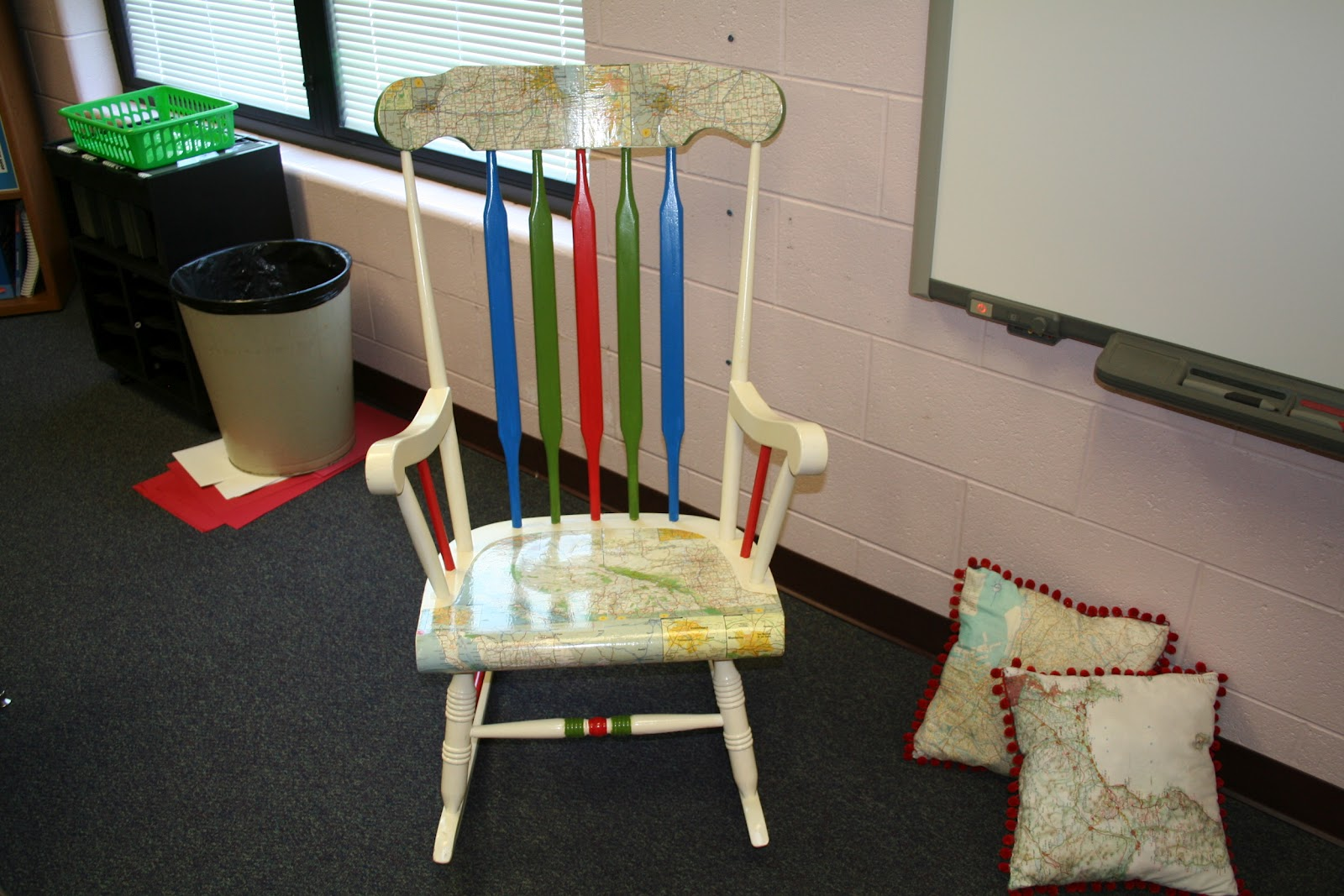 teacher rocking chair 4 seater outdoor table and chairs the paperbag teachers room reveal traveling through third