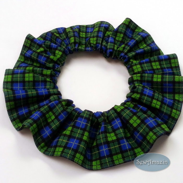 Plaid and Tartan Pet Bandanas and Neck Ruffles