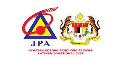Permohonan Jawatan Kosong Penolong Pegawai Latihan Vokasional DV29 2019