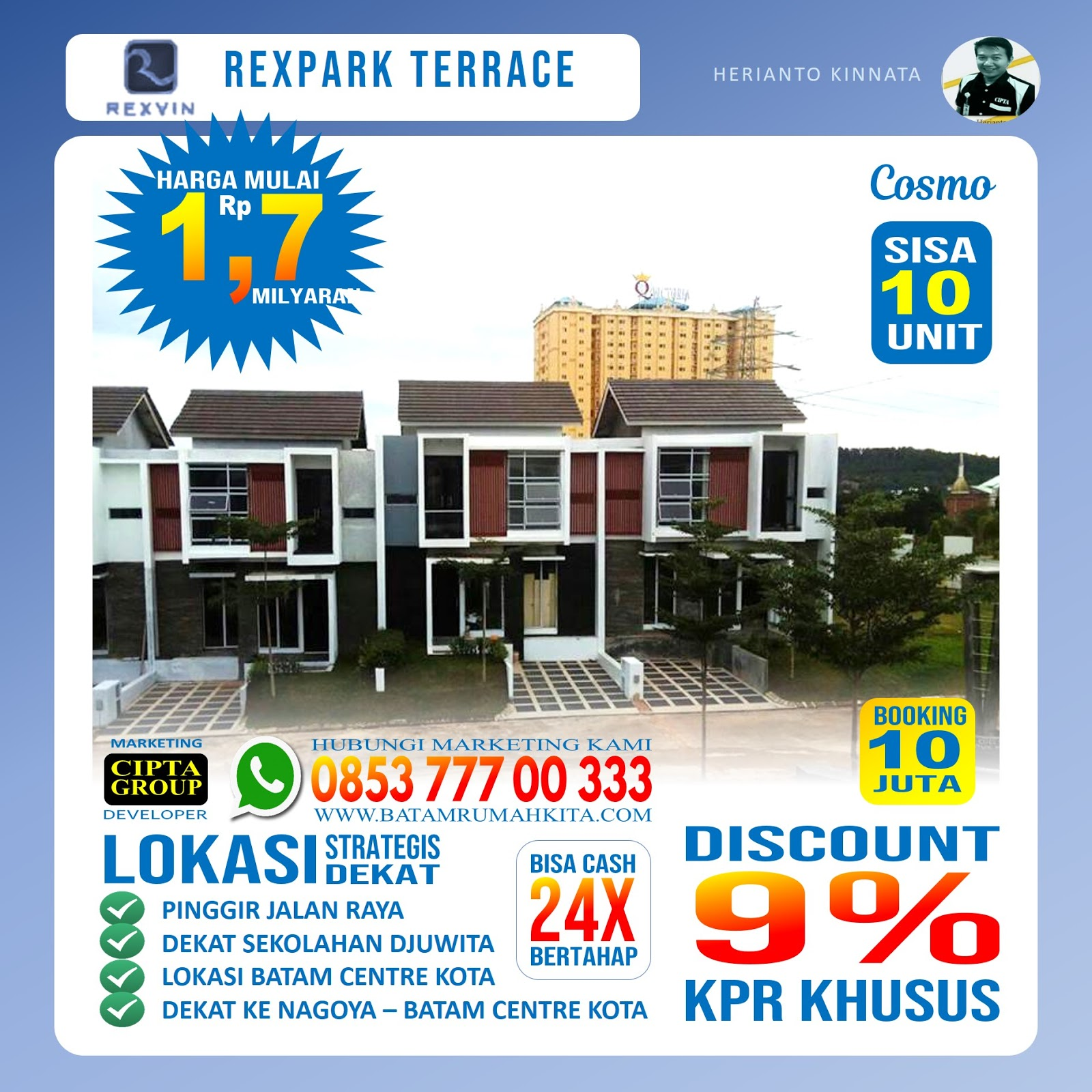 Perumahan Rexpark Terrace - Type cosmo -2